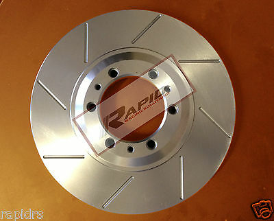 FORD BA XR6 XR6T XR8 BF XR6 FG G6 G6E SLOTTED DISC BRAKE ROTORS WITH Brake pads