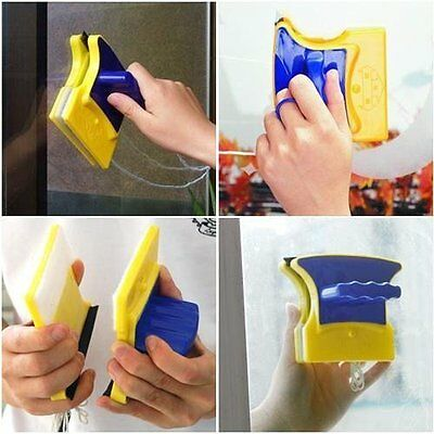 Double-Side Magnetic Glass Cleaner with 2 Extra Cleaning Cotton for Glass Window