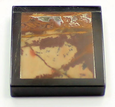 26.14ct WONDERFUL RECTANGLE MOOKAITE WITH ONYX FRAME