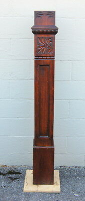Original Antique 1890s Quarter Sawn Oak Newel Post, Architectural Salvage