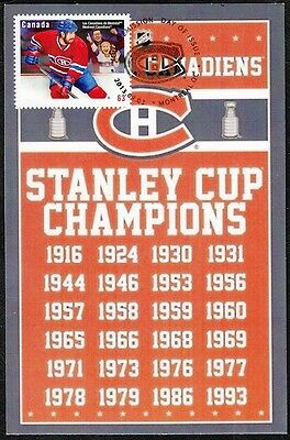 CANADA  #2671.85 - MONTREAL CANADIANS HOCKEY 24 STANLEY CUPS on MAXIMUM CARD