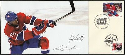 CANADA Sc #2671.30.1 MONTREAL CANADIANS P.K. SUBBAN FDC SIGNED by DESIGNERS