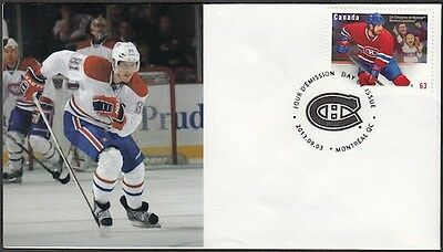 CANADA Sc #2671 (48) MONTREAL CANADIANS LARS ELLER on FIRST DAY COVER