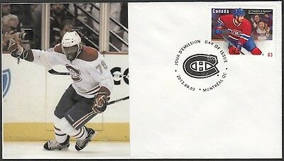 CANADA Sc #2671 (45) MONTREAL CANADIANS P.K. SUBBAN on FIRST DAY COVER