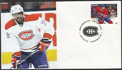 CANADA Sc #2671 (44) MONTREAL CANADIANS P.K. SUBBAN on FIRST DAY COVER