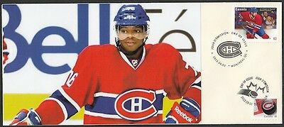 CANADA Sc #2671 (28) MONTREAL CANADIANS P.K. SUBBAN ON SUPERB FIRST DAY COVER