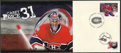 CANADA Sc #2671 (25) MONTREAL CANADIANS CAREY PRICE ON SUPERB FIRST DAY COVER