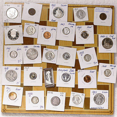 PRICE DROP!  Junk Lot Old US Coins Silver Walking Liberty Commem Mercury Indian