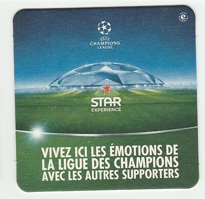 New ★ HEINEKEN ★ Star UEFA Champions league Sous bock coaster beer bier deckel