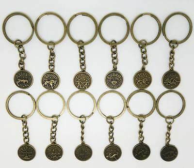 Zodiac Signs Keyrings/Key Chains, Double Sided