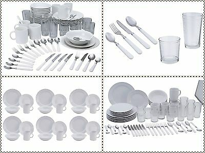 60PC Complete Dinner Set Plates Bowl Mug Glass Tumbler Cutlery Set Service for 6