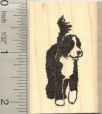 Portuguese Water Dog Rubber Stamp