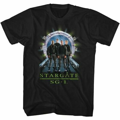 Stargate SG-1 TV Series 1st Season Cast Standing Before Gate  T-Shirt NEW UNWORN