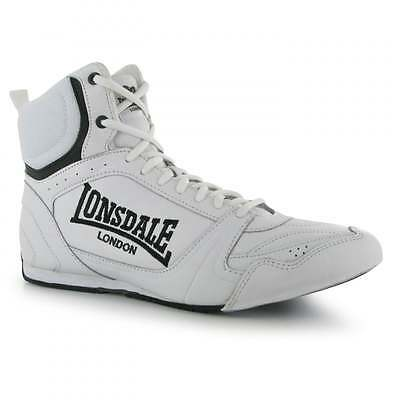 Lonsdale Boxing Bout Leather Boxing Boots - White