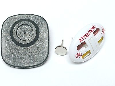 3-in-1 BUNDLE: 1000 EAS Hard Tags and Security Ink Pins with Red Warning + pins