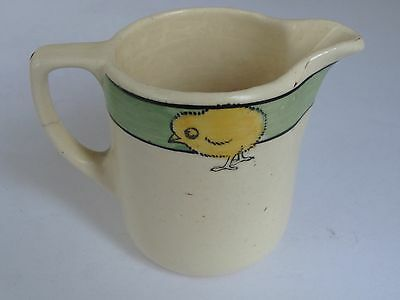 Roseville Pottery Juvenile or Childs Pitcher with Chicks