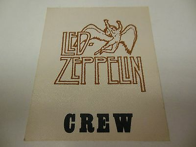 1970S Led Zeppelin Good Condition Stage Crew Backstage Pass Rare Rip John Bonham