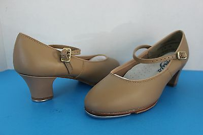Capezio Womens or Youth Girls Tan TAP Dance SHOES ~Size 5 M~ Recital Performance