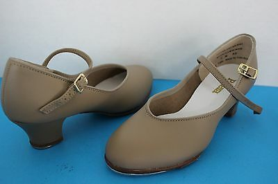 Balera Womens or Youth Girls Tan TAP Dance SHOES ~Size 5 M~ Recital Performance