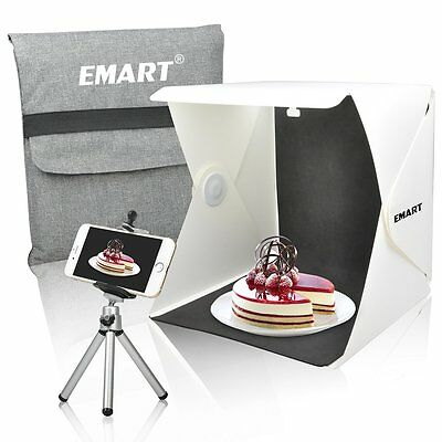 Emart Studio Shooting Tent 40 LED Foldable Portable Photo Lighting Box Kit inc