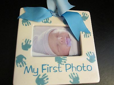 """Prince """"My First Photo""""  Ceramic Picture Frame by Mud Pie, New"""