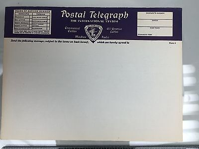Western Union Precursor - Unused Original Postal Telegraph Blank Form 2