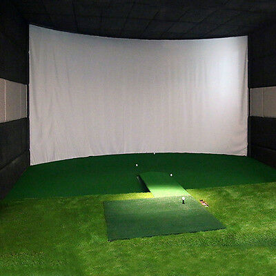1pcs Indoor Y2R3 Golf Simulator Projection Hitting Impact White Screen 9.8'x3.3'