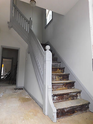 Antique Victorian Style Complete Staircase -1885 Butternut Architectural Salvage