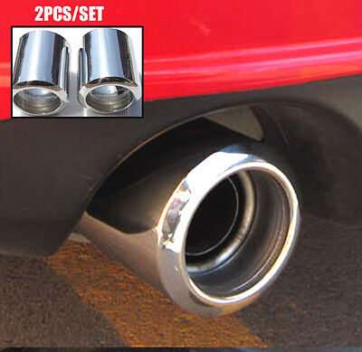 2Pc Muffler Tips Fitfor 09- Mazda 6 Cx-5 Exhaust Tail Pipe End Trim Chrome Cover