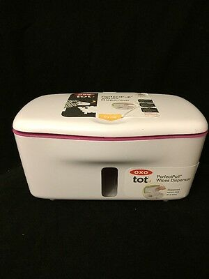 OXO Tot Perfect Pull Wipes Dispenser, Pink, Wipe Holder, New, Free Shipping
