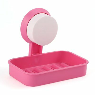 1pc Plastic Bathroom Shower Strong Suction Cup Soap Dish Tray Wall Holder HF