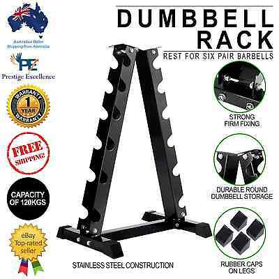 6 Pairs Dumbbell Storage Rack Home Gym Weight Equipment Vertical Fitness Holder