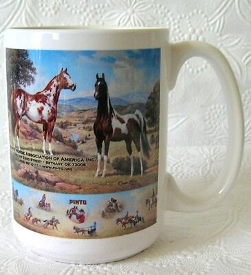 Pinto Horse Assoc of America Mug 16 oz Stoneware Coffee Cup