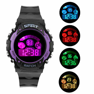 Fashional Multifunctional Children's Waterproof Electronic Watch for Sports HF