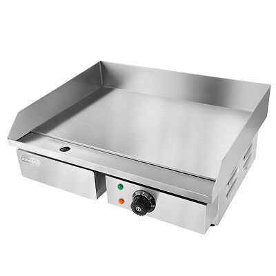Electric Griddle Grill BBQ Hot Plate Commercial Stainless Steel Countertop 3000W