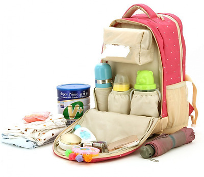 Baby Travel Diaper Bag Backpack With Insulated Bottle Pockets Large Capacity New