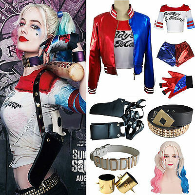 Cosplay Suicide Squad Harley Quinn Daddy's Lil Monster Coat Jacket Tee Shirt Lot