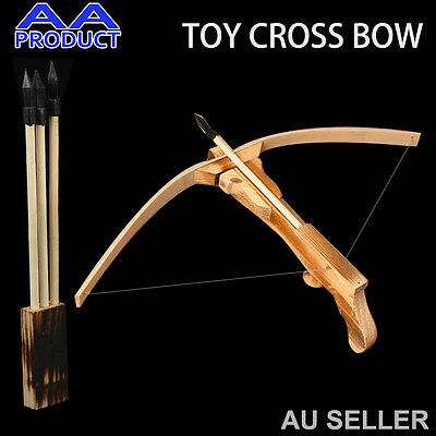 Cross Bow+Arrow+Quiver,Wood Toy Gun Archery Crossbow Outdoor for Kid or Cosplay