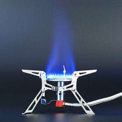 Portable Gas Stove Butane Propane Burner 3000W Outdoor Camping Hiking Picnic HJ