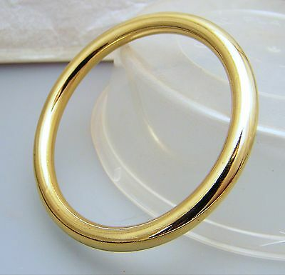 Gold Large Wide Golf Bangle by Creola Childs size 53mm Gold Plated