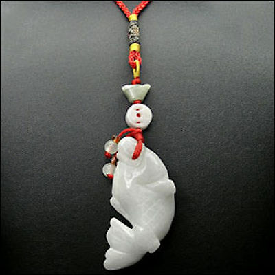 Stunning Abundance Carp Hand Carved Jade Lucky Charm made of Natural Jade