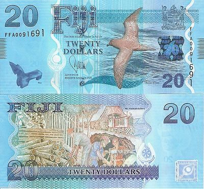 FIJI, 20 dollars, 2012(2013),P-New,UNC Note>New Design,Best Quality+Most Beauty