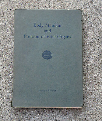 1914 Body Manikin & Position of Vital Organs by Susanna Cocroft Color Illus