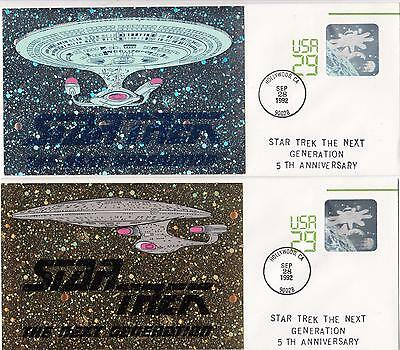 1992 Star Trek The Next Generation 5th Anniversary commemorative envelopes x 2