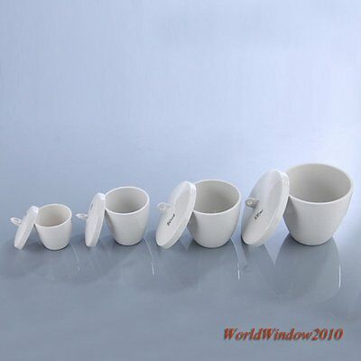 Ceramic Crucible With Lid For Muffle Furnaces Experiment 10/20/25/30/40/50/100mL