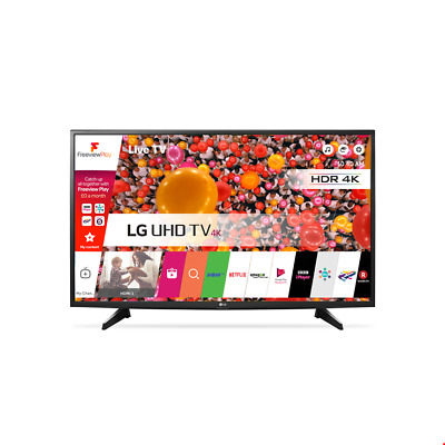 "LG 49UH610V 49"" 4K Ultra HD Smart LED TV in Grey with Ethernet & 3x HDMI Ports"