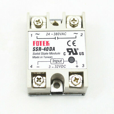 Solid State Relay SSR-40DA 40A /250V 3-32VDC DC SSR Module for Arduino