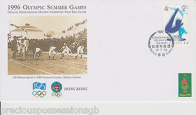 1996 Olympics HONG KONG OFFICIAL INTERNATIONAL OLYMPIC COMMITTEE FIRST DAY COVER