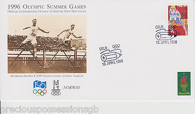 1996 Olympics NORWAY OFFICIAL INTERNATIONAL OLYMPIC COMMITTEE FIRST DAY COVER