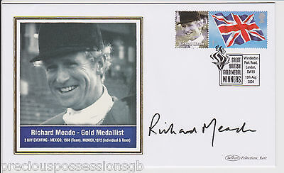 Great British Gold Medal Winners Signed  Fdc Cover Richard Meade 2004 Olympic